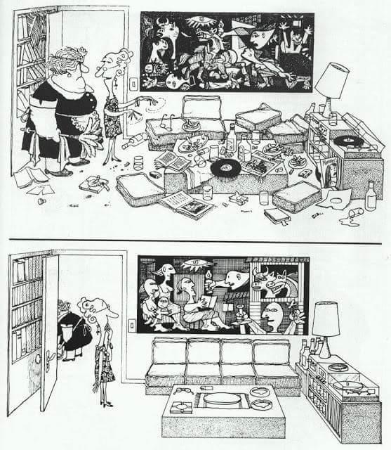 """Chiste de Quino """"Guernica"""""""